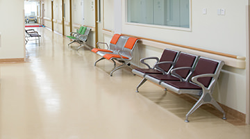 Emergency rooms require floor coatings that ease cleanliness and reduce bacterial spread.
