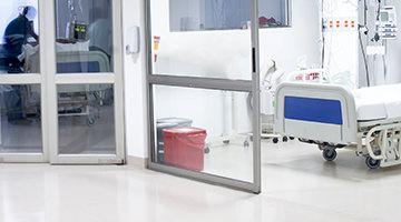 Hospital Flooring Systems maintain a clean appearance