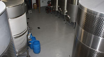 winery floors must be durable and be easily cleaned