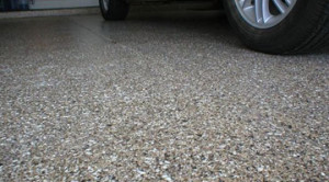 Resin Coated Garage Floor