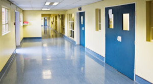 Medical Hallway Concrete Flooring