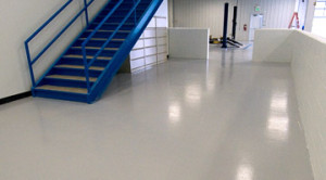 Repaired Concrete Floor