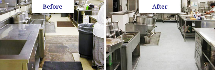 best commercial kitchen flooring best systems amp floor paint options for kitchens 4439