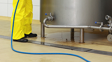 chemical washdown process eliminates bacterial which is perfect for food facilities